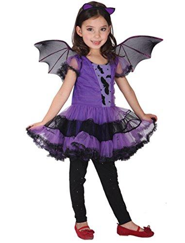 Girls Devil Tutu Costume (Girls Halloween Devil Costume Party Dress Princess Tutu Dress Role Play Costume(2Y-6Y) (3T))