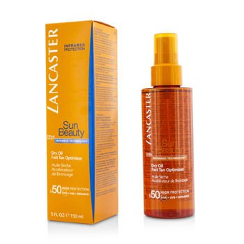 Lancaster Sun Beauty Dry Oil Fast Tan Optimizer SPF 50, 5 Ounce