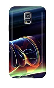 New Fashion Premium Tpu Case Cover For Galaxy S5 - Light Curves