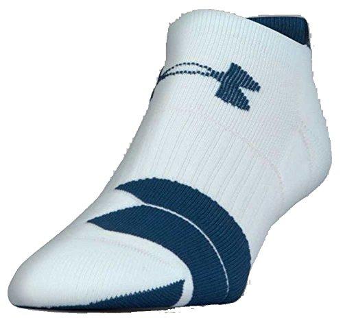Mens Full Cushion Tab Socks (Under Armour UA Men's Run Cushion Tab No Show Sock 1292820 (Mint/Blue, M))