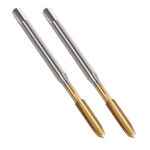 - YXQ M3 x 0.5mm Tap Machine Metric Right Hand Thread 3 Straight Flute Taps Taper and Plug (2Pcs)