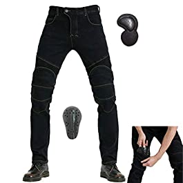 Takueuy Motorcycle Riding Protective Pants Armor Motocross Racing Denim Jeans Upgrade Knee Hip Protective Pads