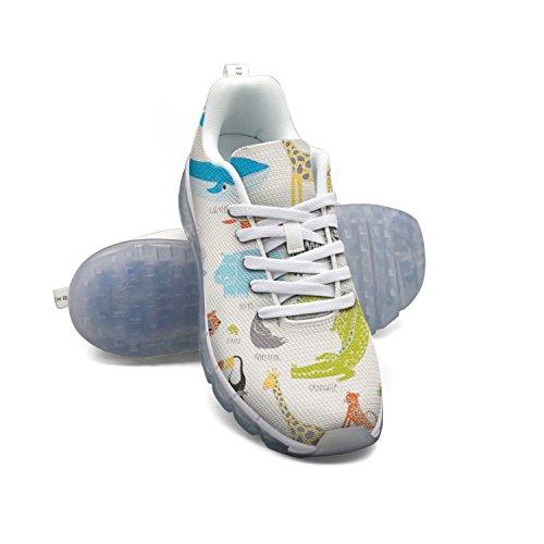 Faaerd Animal Magic Lovely Mens Fashion Leggero Mesh Air Cushion Sneakers Walking Shoes