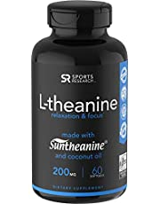 L-Theanine + Caffeine with Coconut MCT Oil ~ Nootropic Supplement for Focused Energy ~ Keto Certified & Non-GMO (60 Softgels)