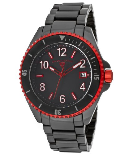 Swiss Legend Men's 11528-BKBRDA Luminar Black Dial Black High-Tech Ceramic Watch, Watch Central