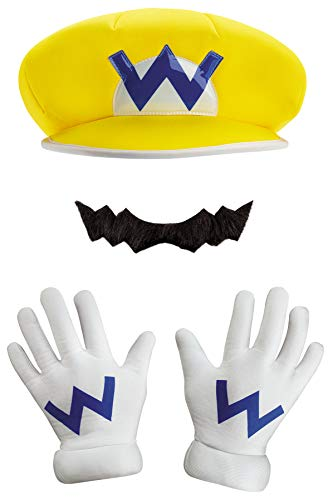 Disguise Super Mario Wario Kit Funny Theme Party Halloween Costume Accessory