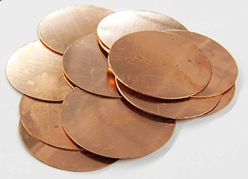 Round Circle Disc Copper 2.5
