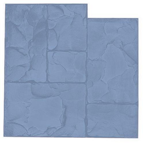 Kraft Tool Company CC140B, Blue Ashlar Cut Slate Texture Mat