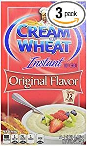 All Natural Instant Hot Cereal - Cream Of Wheat Instant Hot Cereal Original Flavor 12 Oz. Pack Of 3.