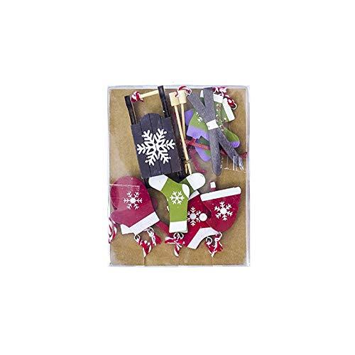 (Pendant & Drop Ornaments - 6 Pcs Creative Christmas Wooden Pendants Ornaments Diy Party Decorations Xmas Tree Kids Gift Ski - Pendant Sleigh Ski Sticker Ornament Tachometer Watercraft Golde)