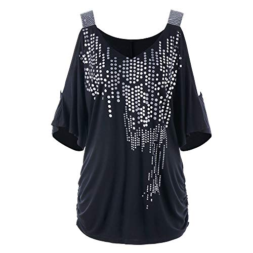 (Women's Sexy Deep V Neck Short Sleeve Back Cross Tied Up Tee Backless Lace Crop Top Women's Tops Long Sleeve Lace Black)