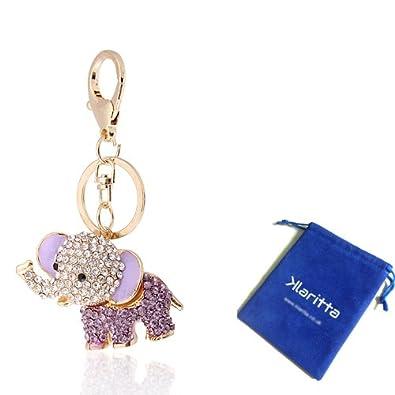 47ca431cb0d Handbag Buckle Charms Accessories Purple Lucky Elephant Keyrings Key Chains  HK26