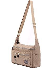 Women's Fashion Nylon Messenger Bags, Nude