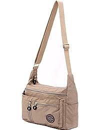 ZYSUN Women's Fashion Nylon Messenger Bags, Nude
