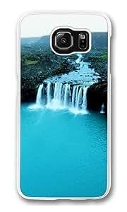 Samsung Galaxy S6 Case, Samsung Galaxy S6 Cases -Turquoise Waterfall Iceland Polycarbonate Hard Case Back Cover for Samsung S6/Samsung Galaxy S6 Transparent wangjiang maoyi