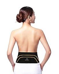 EXIZ KING Copper Back Fit Pro Waist Belt Provides LOWER BACK Support Compression Infuse Brace Belt Lumber Wrap (Size:39\