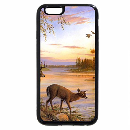 iPhone 6S / iPhone 6 Case (Black) Sunset and the forest