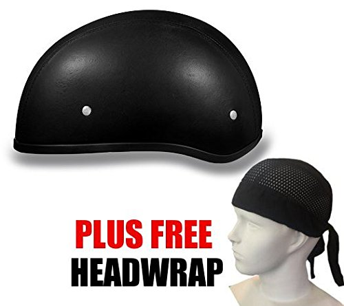 Leather Covered Motorcycle Helmet - 3