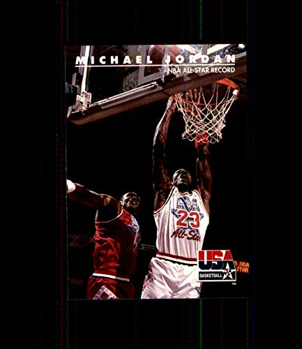 1992 SkyBox USA #43 Michael Jordan CHICAGO BULLS NORTH CAROLINA TAR HEELS NBA All-Star Record