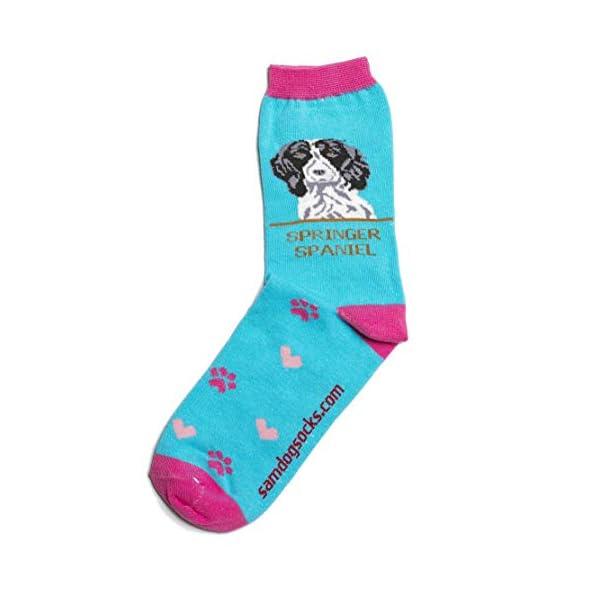 Springer Spaniel Black Women Socks 1