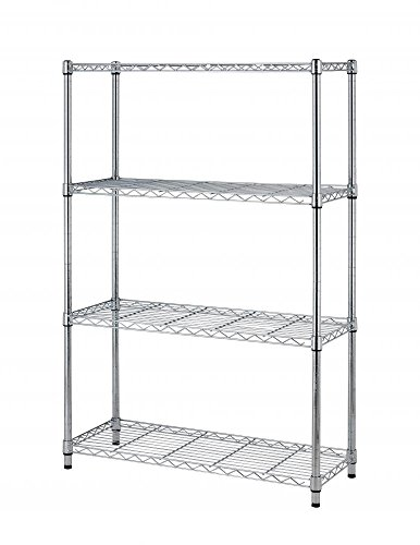 """36""""x14""""x54"""" Commercial 4 Tier Layer Adjustable Wire Metal Shelf Rack (Chrome)"""