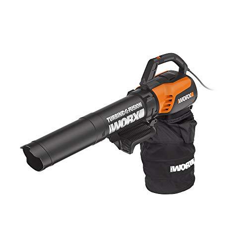 WORX WG510 TURBINEFusion 12 Amp Electric Leaf Blower/Mulcher/Vacuum (Best Blower Vac For Pine Needles)