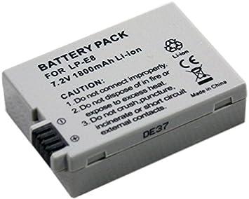 1 pieza nuevo btbai? 1,8 A LP-E8 LPE8 batería para Canon EOS 550D ...