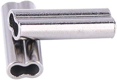 ダブルバレル 銅クリンプスリーブ 200個 フィッシングワイヤー リーダー クリンプ アルミニウム 釣り糸 チューブ リーダー スリーブ 銅チューブコネクター