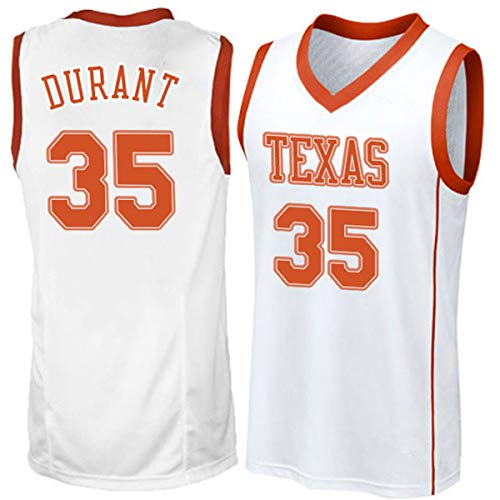 (Mitchell & Ness Texas Longhorns College Basketball Jersey 35 Kevin Durant White)