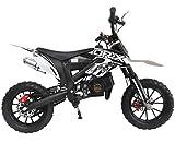 DR-X Kids Dirt Bike Holeshot-X 50cc Gas Power Mini Dirt Bike 20inches Seat Height Dirt Off Road Motorcycle, Pit Bike Fully Automatic, White