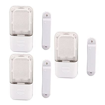 DealMux Gabinete Closet Automatic Sensor Magnético LED Light Lamp 3 Pcs Branco - - Amazon.com