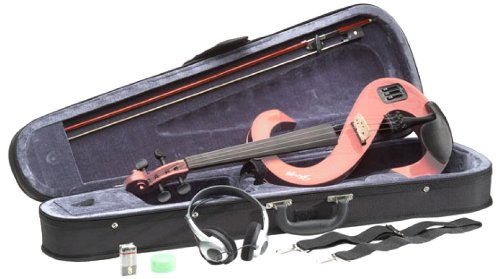 Stagg EVN 4/4 PK Silent Violin Set with Case, Pink by Stagg