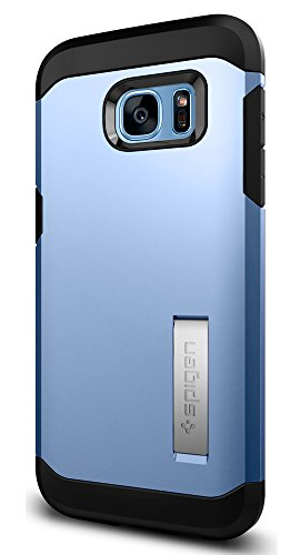 Spigen Tough Armor Galaxy S7 Edge Case with Kickstand and Extreme Heavy Duty Protection and Air Cushion Technology for - Blue Coral by Spigen
