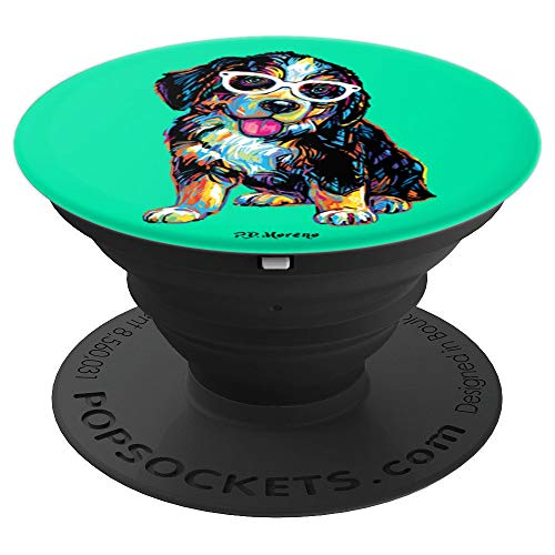 Burmese Mountain Dog Mobile Hipster Sunglasses Teal P.D. - PopSockets Grip and Stand for Phones and Tablets ()