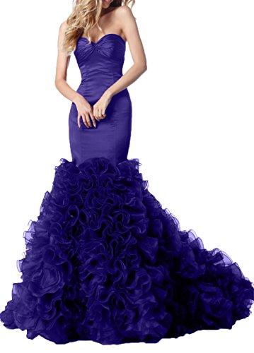 Festlichkleider Regency Abendkleider Satin Braut La mit Promkleider Hochwertig Rueschen Ballkleider mia Meerjungfrau 7qYUP4Twx