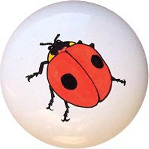 Ladybug Bug by DVR Decorative Glossy Ceramic Drawer Pull Knob
