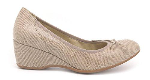 dessus caoutchouc 5 Melluso haute cm calage cuir Chaussures 5 Decoltè femmes semelle en OtwAxxq