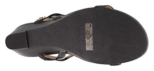Black Leather Womens Cali Vionic Port Sandals 86ROvfx