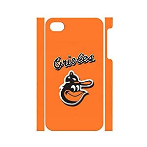 THYde Special Cool Design Unique Own Baseball Team Logo Phone Cover Skin for Iphone 4/4s Case ending