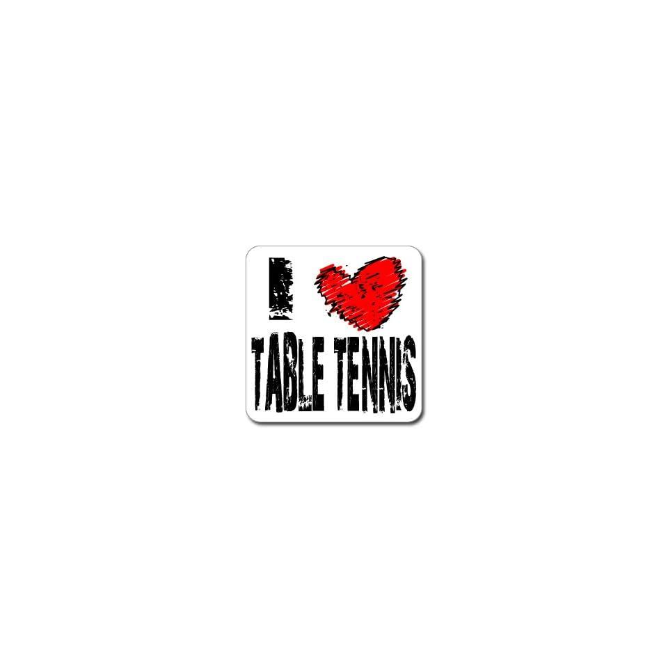I Love Heart TABLE TENNIS   Window Bumper Laptop Sticker