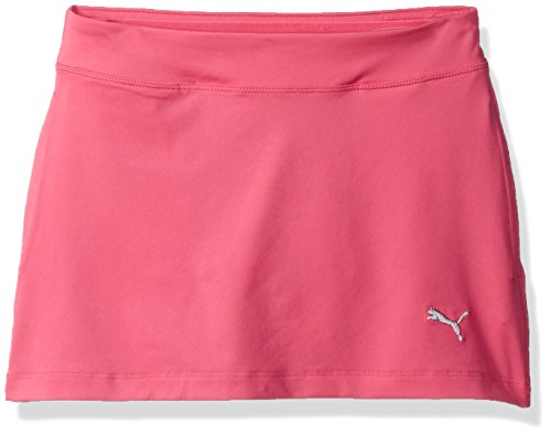 Puma Golf Girls Solid Knit Skirt, Shocking Pink, Large