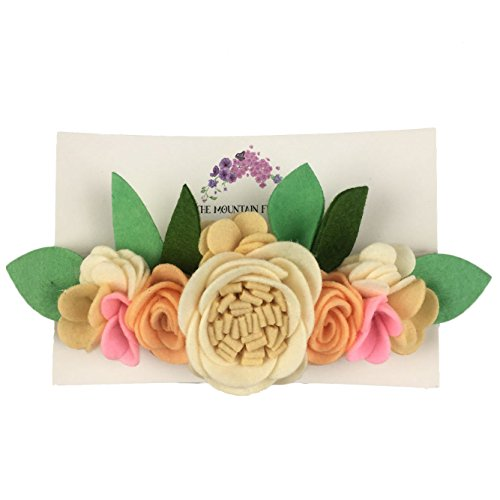 The Mountain Flower Peaches and Cream Handmade Felt Flower Headband - for toddlers and girls for $<!--$10.97-->