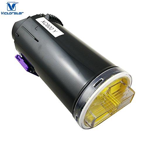 Compatible Toner Cartridge C600 C605 series Yellow VICTORSTAR Standard Capacity 6000 Pages Yield for Xerox VersaLink C600 C605 Laser Printers (Series Yellow Compatible Toner)