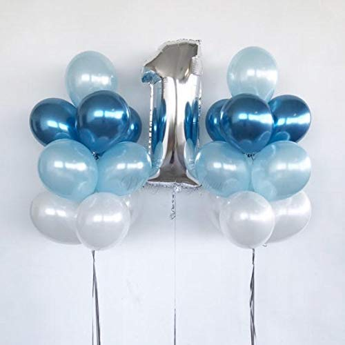 First Birthday Baby Boy Balloon Decoration. 40