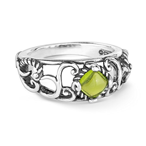 (Carolyn Pollack Sterling Silver Peridot Band Ring,  size 8)