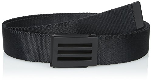 adidas Golf Men's Webbing Belt, Black, One Size (Webbing Stripe Belt)