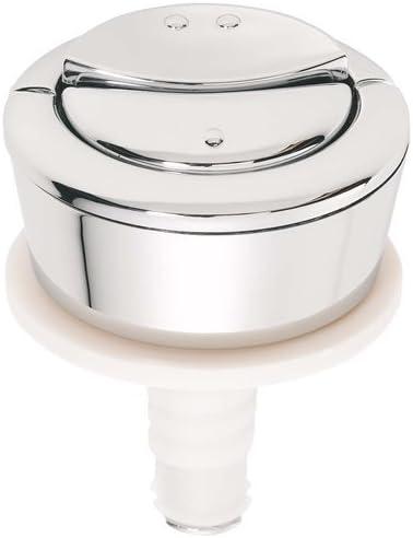 Multi-Colour Wirquin 19008001 Jollyflush Dual Flush Chrome Toilet Push Button