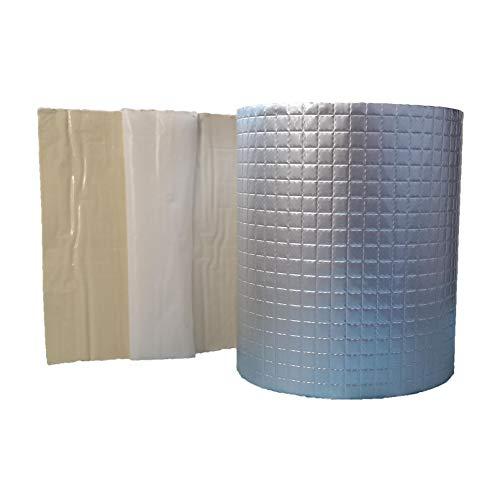 Aluminum Butyl Leak Repair Tape for RV Awning Roof, Window Leakage, Gutter Seal, Waterproof 3.94″ x 16.4′ by SECUILDIN