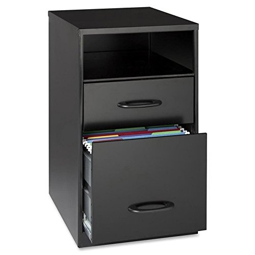 Mobile Filing Cabinets 2 - Lorell 18505 2-Drawer Mobile File Cabinet with Shelf, 18-Inch
