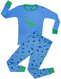 Boys Animals 2 Piece Pajama Set Top & Pants PJ's 100% Cotton (Toddler-14 Years)